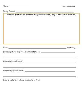 McGraw Hill Wonders Leveled Reader Response Sheets Unit 9 Week 3