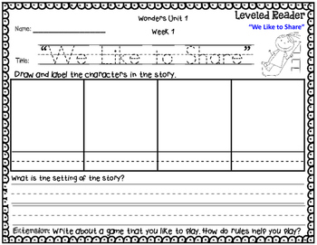 McGraw-Hill Wonders Leveled Reader Response Unit 1: Getting To Know Us-1st Grade