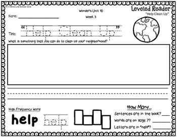 Wonders Leveled Reader Response Unit 10: Thinking Outside the Box(K)