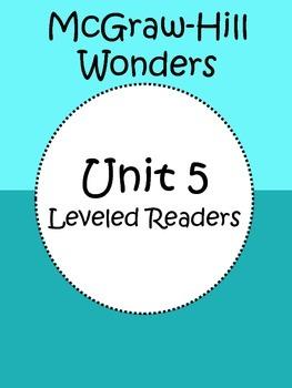 Third Grade Leveled Readers Unit 5