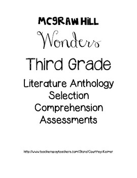 McGraw-Hill Wonders Literature Anthology Assessments Unit 5
