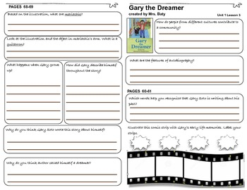 McGraw Hill Wonders Anthology 3d Grade Passages Student Journal Pages Unit 1