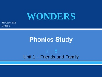 McGraw-Hill Wonders PHONICS STUDY BOARD - Grade 2:  BUNDLED Units 1-6