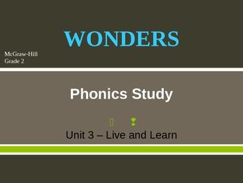 McGraw-Hill Wonders PHONICS STUDY BOARD - Grade 2:  Unit 3