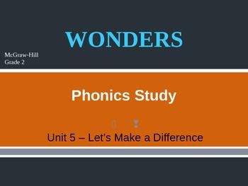McGraw-Hill Wonders PHONICS STUDY BOARD - Grade 2:  Unit 5