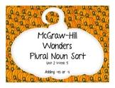 McGraw Hill Wonders Plural Noun Sort