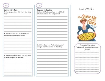 McGraw-Hill Wonders Princess and the Pizza Trifold