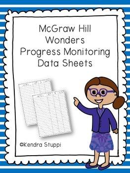 McGraw Hill Wonders Progress Monitoring Data Sheets