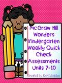 McGraw Hill Wonders Quick Assessment Units 7-10