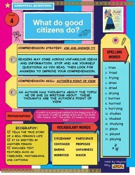 McGraw Hill Wonders Reading 3d Grade FOCUS WALL Unit 5 15 Spelling Words