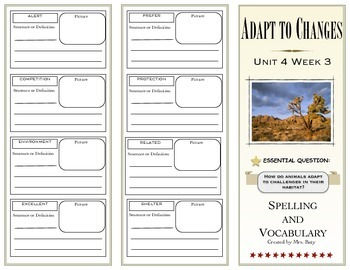 McGraw Hill Wonders Reading 3d Grade Spelling and Vocabulary Unit 4