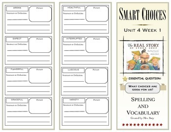 McGraw Hill Wonders Reading 3d Grade Spelling and Vocabulary Unit 4 (on-level)
