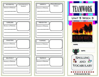 McGraw Hill Wonders Reading 3d Grade Spelling and Vocabulary Unit 5