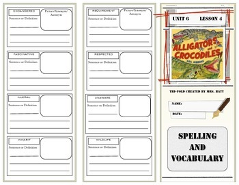 McGraw Hill Wonders Reading 3d Grade Spelling and Vocabulary Unit 6