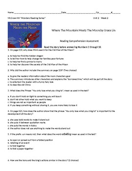 McGraw-Hill Wonders Reading 5th grade Unit 2 Bundle (weeks 1,2,3, and 4)