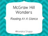 McGraw Hill Wonders -Reading At A Glance - Kindergarten