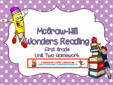 McGraw Hill Wonders Reading First Grade Unit Two Homework Packet