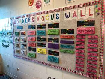 McGraw-Hill Wonders Reading Focus Wall/Board - 5th Grade