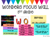 McGraw-Hill Wonders Reading Focus Wall/Board - 5th Grade