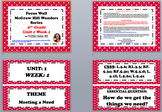 McGraw Hill Wonders Reading Focus Wall  SMALL SIZE: 5th Grade - Unit 1 Week 1-5