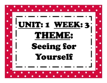 McGraw Hill Wonders Reading Focus Wall Signs: 5th Grade - Unit 1 Week 3