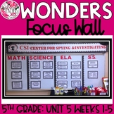 McGraw Hill Wonders Reading Focus Wall Signs: 5th Grade -