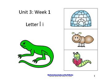 Reading Groups: Unit 3, Week 1: Letter I
