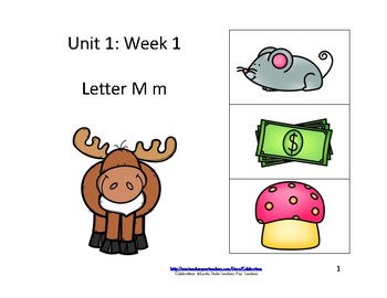 Reading Groups: Unit 1, Week 1: Letter M