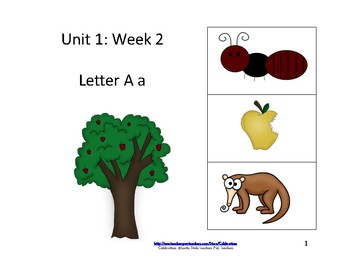 Wonders Reading Groups: Unit 1, Week 2: Letter A