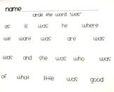 McGraw Hill Wonders Reading- Kindergarten Sight Word Pract