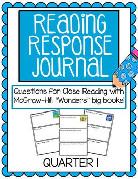 "Reading Response Journals - McGraw Hill ""Wonders"" Quarter 1"