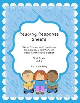 McGraw-Hill Wonders Reading Response Sheets, Unit 2