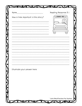 McGraw-Hill Wonders Reading Response Sheets, Unit 3