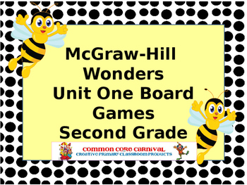 McGraw-Hill Wonders Reading Second Grade Unit One Board Games