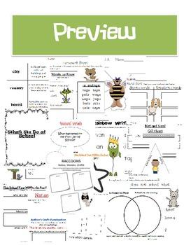 McGraw-Hill Wonders Reading Series First Grade Unit 1 Week 1