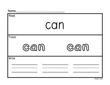 McGraw Hill Wonders Reading Series - Kindergarten Sight Word Practice Pages