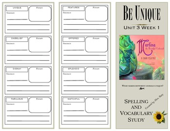 McGraw Hill Wonders Reading 3d Grade Spelling and Vocabulary Unit 3