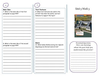McGraw-Hill Wonders Rediscovering Our Spanish Beginnings Trifold