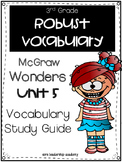 McGraw Hill Wonders Robust Vocabulary 3rd Grade Unit 5