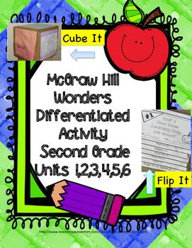 McGraw Hill Wonders: 2nd Grade Units 1-6 Printable Cube It, Flip It  Activity