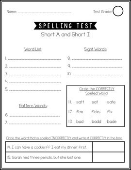 Second Grade Word Study Spelling BUNDLE