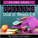 Second Grade Word Study Spelling (Unit 2: Weeks 1-5)