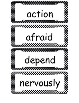 McGraw Hill Wonders Second Grade Vocabulary Cards Unit 1