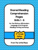 McGraw Hill Wonders Shared Read Comprehension for Units 1-