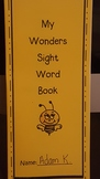 McGraw Hill Wonders Sight Word Book for First Grade