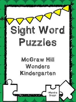 McGraw Hill Wonders - Sight Word Puzzles