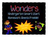 Wonders Smart Start Kindergarten Homework Sheets