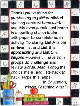 McGraw-Hill Wonders Spelling Bingo and Lists
