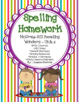 McGraw-Hill Wonders Spelling Homework ~ Unit 2