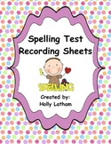 McGraw Hill Wonders Spelling Tests Record Sheets First Grade